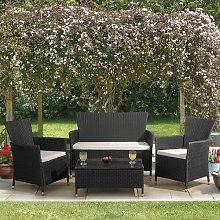 Breezeknoll 4 Seater Rattan Effect Sofa Set Sol 72