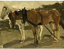 Breitner Brown And White Horse In Scheveningen Art