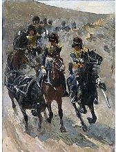 Breitner The Yellow Riders Cavalry Painting Art