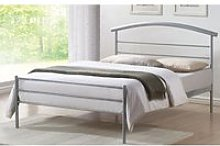 Brennington Metal King Size Bed In Silver