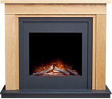 Brentwood Electric Fireplace Suite in Oak &