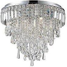 Bresna 6 Light Mixed Crystal Flush Ceiling Fitting