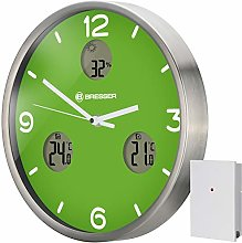 Bresser 8020211B4K000 Wall Clock, Green, 30 cm