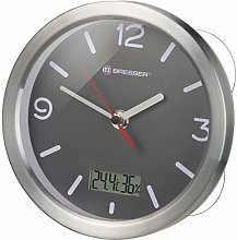 BRESSER Bath Clock 17 cm, grey, 17 cm