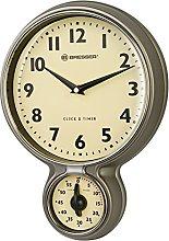 BRESSER MyTime Stainless Steel Retro Kitchen Clock