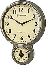 Bresser MyTime Stainless Steel Retro Kitchen Clock