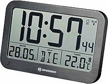 Bresser Wall Clock, Black, 225x150mm