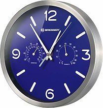 BRESSER Wall Clock, Blue, 250x250mm
