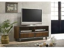 Bretton TV Unit Stand Cabinet Walnut Living Room