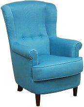 Brevard Armchair August Grove Upholstery: Blue,