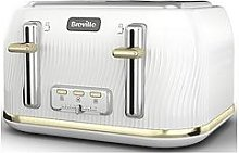 Breville Breville Flow White & Gold 4 Slice Toaster
