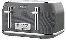 Breville Flow 4 Slice Toaster Storm Grey