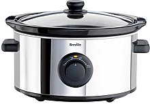 Breville ITP136 3.5 Litre Slow Cooker - Silver