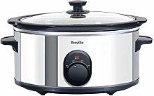 Breville ITP137 4.5 Litre Slow Cooker - Silver