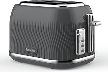 Breville VTT889 Flow 2 Slice Toaster - Grey