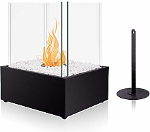 BRIAN & DANY Square Tabletop Bio Ethanol Fireplace