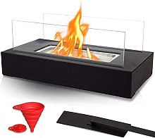 BRIAN & DANY Tabletop Square Bio Ethanol Fireplace