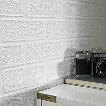 Brick 10m L x 52cm W 3D Embossed Wallpaper Roll