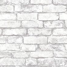 Brick Metal 10m x 52cm Wallpaper Roll Borough Wharf