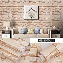 Brick Pattern Self Adhesive Wallpaper Contact
