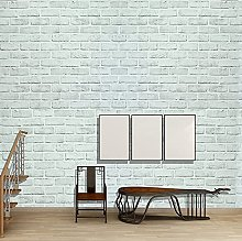 Brick Wallpaper Peel and Stick 45cm x 6m White and