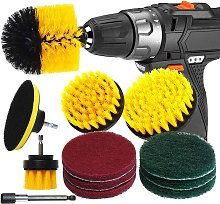 Briday - 12pcs Drill Brush and Metal Extension Rod
