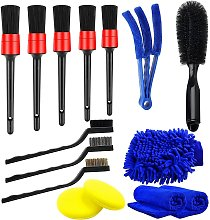 Briday - 15Pcs Car Cleaning Brushes, Car Cleaning