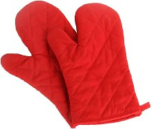 Briday - 2 PCS Polyester-Cotton Oven Gloves Anti