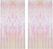 Briday - 2pcs Metallic Foil Fringe Curtain