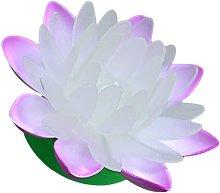 Briday - 2Pcs Purple LED Floating Lotus Lights
