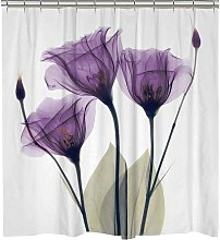 Briday - 3D Shower Curtain for Bathroom with 12