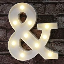 Briday - Ampersand Symbol Marquee Letter Lights