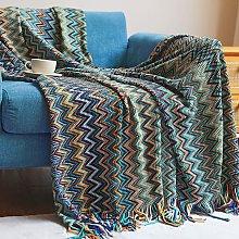 Briday - Boho Throw Blankets, Knitted Tassel Throw