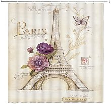 Briday - butterfly Paris shower curtain floral