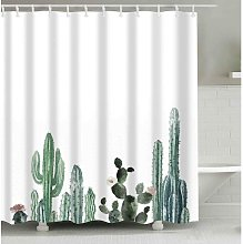 Briday - Cactus Decor Shower Curtain with Modern