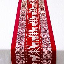 Briday - Christmas Table Runner Red Christmas Tree