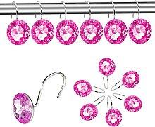 Briday - Decorative Shower Curtain Hooks - 12