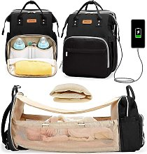Briday - Diaper Bag Backpack Foldable Baby Bed, 3