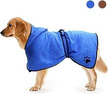 Briday - Dog Bathrobe with Adjustable Drawstring