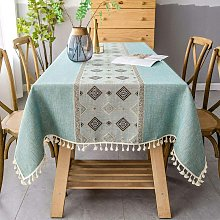 Briday - Embroidery Tassel Tablecloth - Cotton