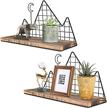 Briday - Floating Shelves, Set of 2 Mountain Wall