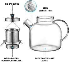 Briday - Glass Teapot, 900ML Stovetop Safe Tea