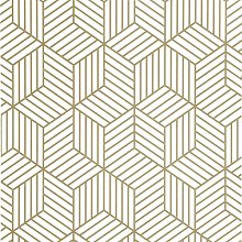 Briday - Gold and White Geometric Hexagon Peel and