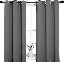 Briday - Grey Blackout Curtain Panels for Bedroom,