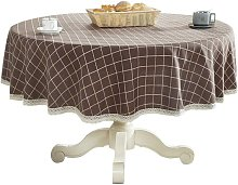 Briday - Heavy Cotton Linen Lace Round Table for
