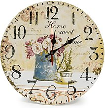 Briday - Home 12 inch/30 cm wooden wall clock,