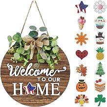 Briday - Interchangeable Seasonal Welcome Sign