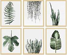 Briday - Leaf Canvas Plant Wall Decor - Minimalist