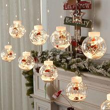 Briday - LED Curtain String Lights, Christmas