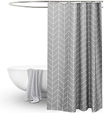 Briday - Long Shower Curtain 72x78inch Gray